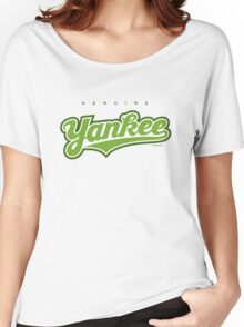 GenuineTee - Yankee(greenwhitegreen) Women's Relaxed Fit T-Shirt