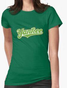 GenuineTee - Yankee(greenwhitegreen) Womens Fitted T-Shirt