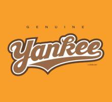 GenuineTee - Yankee (brownwhitebrown) by GerbArt
