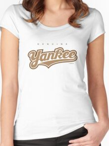 GenuineTee - Yankee (brownwhitebrown) Women's Fitted Scoop T-Shirt