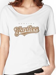 GenuineTee - Yankee (brownwhitebrown) Women's Relaxed Fit T-Shirt