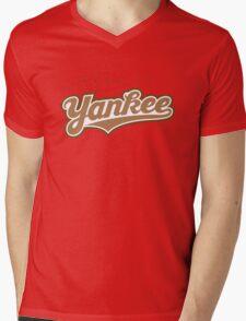 GenuineTee - Yankee (brownwhitebrown) Mens V-Neck T-Shirt
