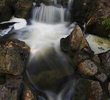 Waterfall with Spotlights by Adam Bykowski