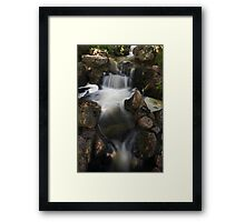 Waterfall with Spotlights Framed Print