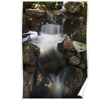 Waterfall with Spotlights Poster