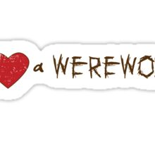 I Love (Heart) a Werewolf Twilight T-Shirt Sticker