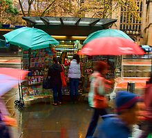 Wet Day In The City by Dulcie Dal Molin