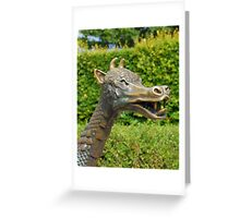St Leonards Dragon Statue Greeting Card