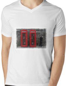 Phone Boxes Mens V-Neck T-Shirt