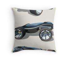 Blues Cruiser Throw Pillow
