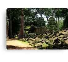 Ta Prohm Temple VII - Angkor, Cambodia. Canvas Print