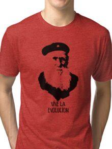 Charles Darwin - Vive la Evolucion! Tri-blend T-Shirt