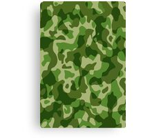 Green Camouflage Army Military Pattern Canvas Print