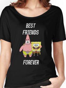 Patrick & Spongebob best friends forever [white text] Women's Relaxed Fit T-Shirt