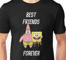 Patrick & Spongebob best friends forever [white text] Unisex T-Shirt