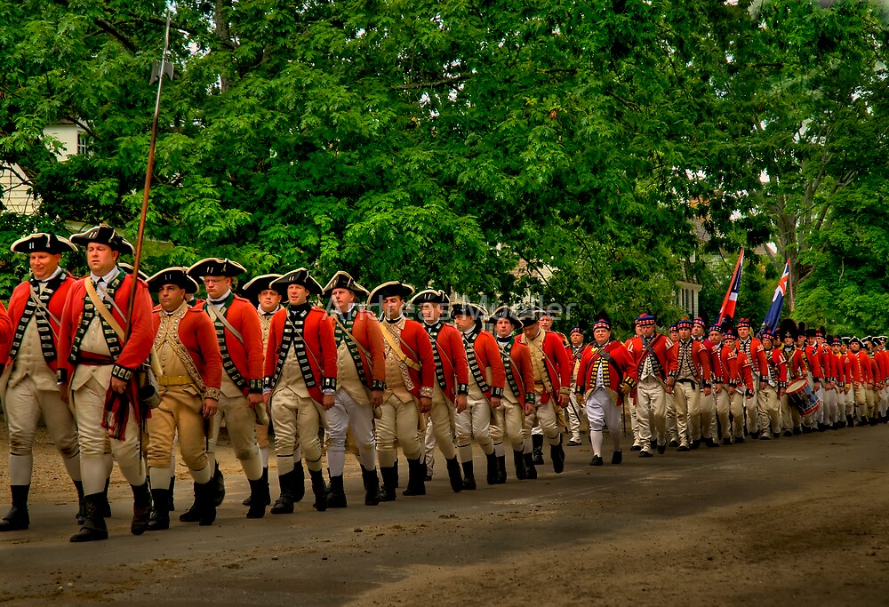March Of The Redcoats by Andreas Mueller