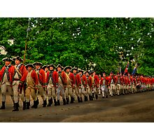 March Of The Redcoats Photographic Print