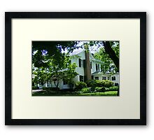 I came upon a shady spot on a hot summers day and found a chair waiting.. Framed Print