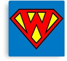 Superman Superboy Super W Canvas Print