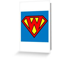 Superman Superboy Super W Greeting Card
