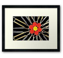 Office Flower Framed Print
