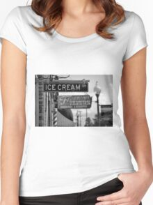 Small Town Ambience Women's Fitted Scoop T-Shirt