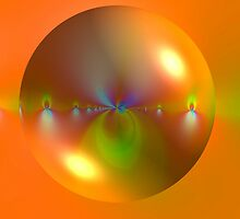 Bubble on Orange by Dana Roper