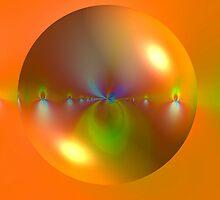 Bubble on Orange by Dana Roper
