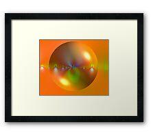 Bubble on Orange Framed Print