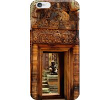 Door of Banteay Srei Temple - Angkor, Cambodia. iPhone Case/Skin