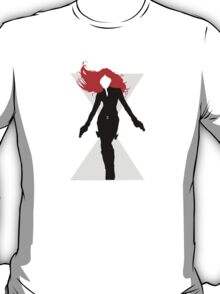 Black Widow Cut Out Design T-Shirt
