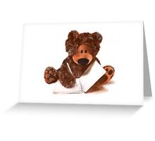 Sketching Teddy Bear Greeting Card