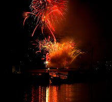 Fireworks over Bedford by Charles Plant
