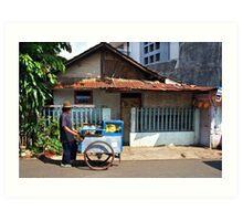 Street Vendor, Jakarta Art Print