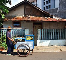 Street Vendor, Jakarta by Simon Deadman