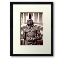 Bronze Indian Statue (Utah State Capitol) Framed Print