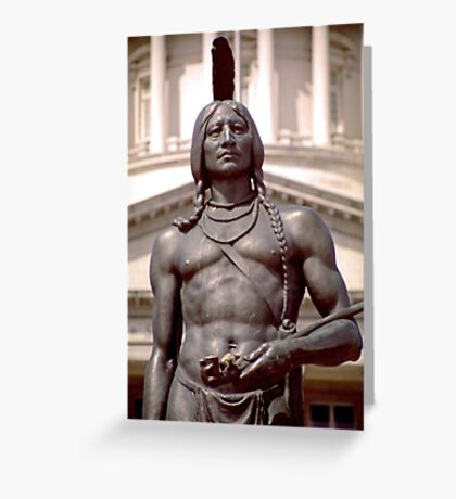 Bronze Indian Statue (Utah State Capitol) Greeting Card
