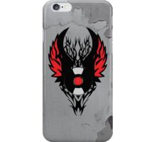 Retro PUNK ROCK Vinyl Record Art - Tribal Spikes and Wings - Cool Music Lover DJ T-Shirt Prints Cases and Stickers iPhone Case/Skin