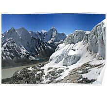 Glacial Lakes and Ama Dablam from Island Peak Poster