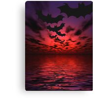 Flying bats Canvas Print