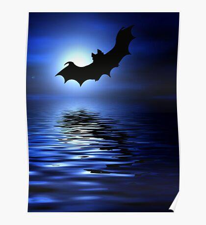 Flying bats Poster