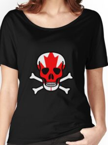 Canadian Skull Women's Relaxed Fit T-Shirt