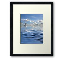 Lonely ship Framed Print