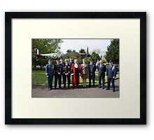 The Mayor of Bromley's Civic Service was held at St George's Chapel, Biggin Hill, to celebrate his year of office and to commemorate the 70th Anniversary of VE Day which ended WWll in Europe Framed Print