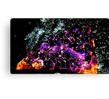 Ametrine cluster with copper minerals  (Citrine and Amethyst ) Canvas Print