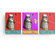 Affectionate Dalek Metal Print