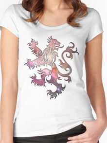 Cosmic Lion Women's Fitted Scoop T-Shirt