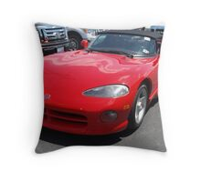 The Snake among the Fords Throw Pillow