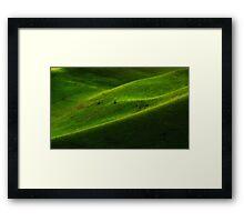 """Green Hills"" Framed Print"
