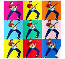 PAUL WELLER THE JAM WITH WHAM GUITAR Poster